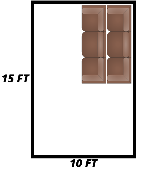 10 ft x 15 ft self-storage unit